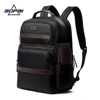 BOPAI Large Capacity Laptop Backpack Anti Theft USB Charging Fashion Men Shoulders Men Bag Travel Backpack for 15.6'' Laptop bopai usb external charge enlarge anti theft laptop backpack for school multifunction laptop bag 15 6 inch men backpack travel