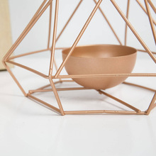 1Pc Romantic Table Stand Props Durable Iron Structure Wedding Decor Geometric Shape Candle Holder Home Exquisite Candlestick