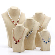 5 Set Bust Jewelry Display Stand Necklace Showcase Holder Pendant - Long Chain Handing Organizer(China)