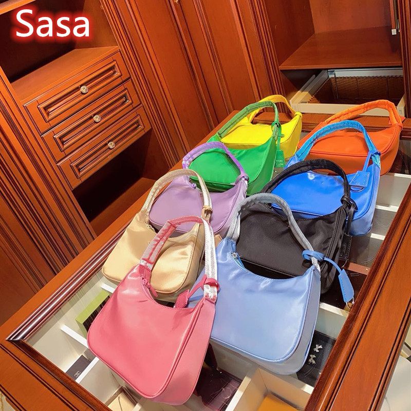 Sasa 2020 Woman Trendy Black Single Strap Handbags Nylon Canvas Zipper Shoulder Bag Female Handbag Retro Bags Totes Black Bag