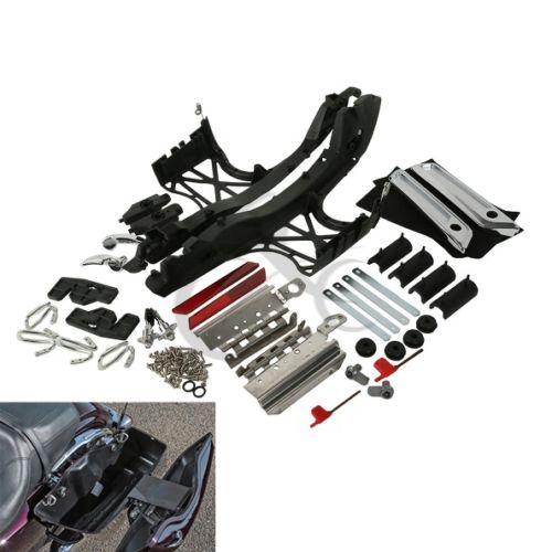 De Hardware de la alforja cubre cierre bisagras Kit para Harley gira Electra Glide Road King Street 1993-2013, 2014-2020