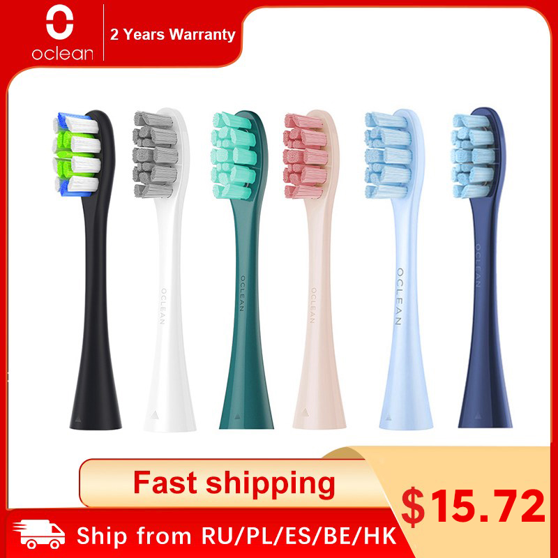 Oclean X Pro Elite/ X Pro/ F1 /Air 2/One 4PCS Replacement Brush Heads for Electric Toothbrush Deep Cleaning Tooth Brush Heads