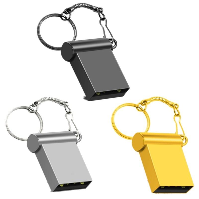 Metal Usb Flash Drive Super Mini Pen Drive Real Capacity Memory Stick U Disk 4G 8G 16G 32GB 64GB 128G 256GB Pendrive Thumbdrives