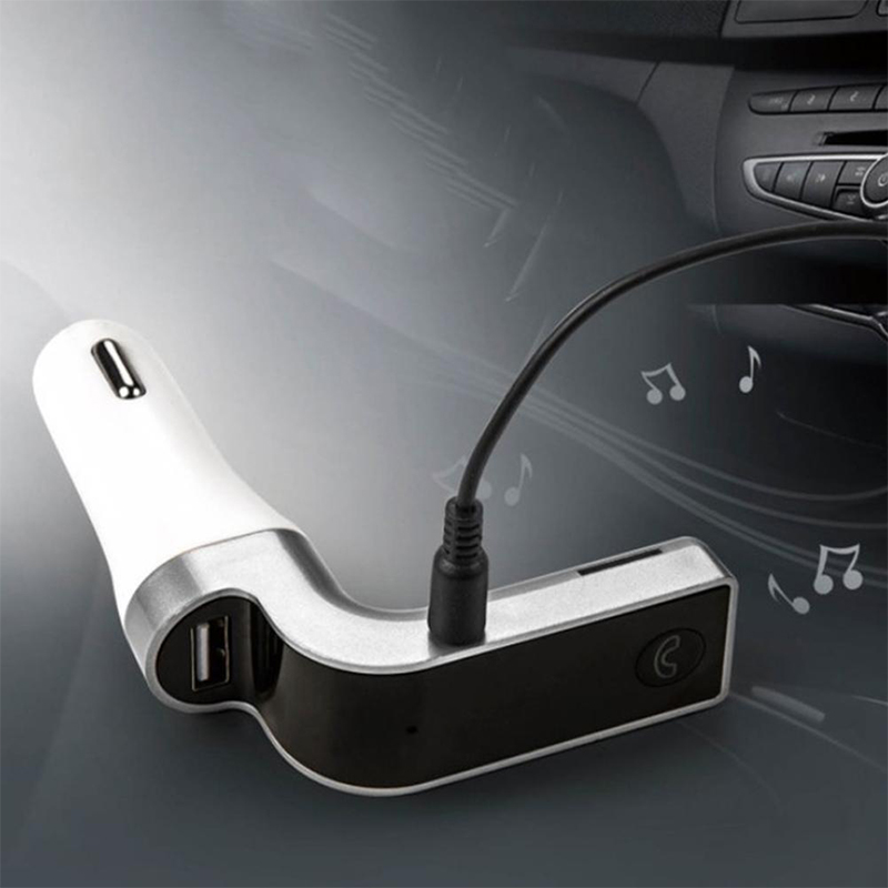 Image 5 - Hands Free Wireless FM Transmitter G7 Car Bluetooth AUX Bluetooth Car Kit MP3 Player SD USB LCD USB Car Accessories 4 in 1-in FM Transmitters from Automobiles & Motorcycles