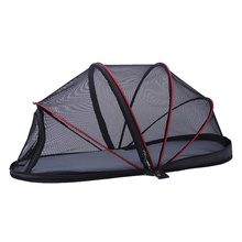 цены на Portable Folded Cat Net Tent Dog House Cage Tent for Small Dogs for Cats Outdoor Kennel Pet Pup Anti-Mosquito Net Tents  в интернет-магазинах