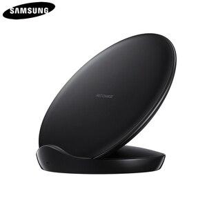 Image 2 - Originele Qi Snelle Draadloze Oplader Voor Samsung Galaxy S8 S9 S10 Plus G9500 G9300 G9350 S6 S7 Rand Note 8 note 9 SM G965F EP 5100