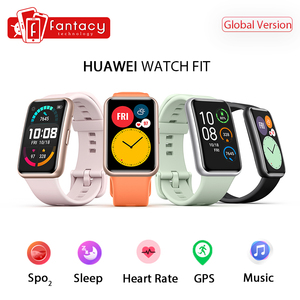Global Version HUAWEI Watch FIT Smart Watch GT 1.64'' AMOLED Blood Oxygen 24-Hour Heart Rate Monitor 10 Days Battery Life GPS