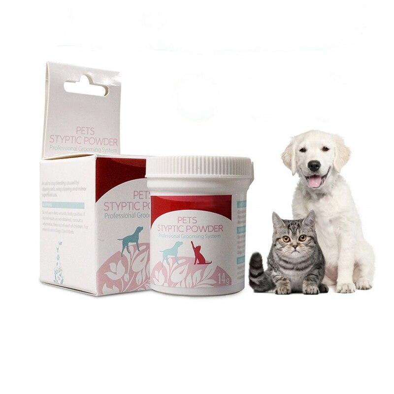 14g/bottle Pet Styptic Powder Dog Cat Anti Inflammation Antibacterial Analgesia Powder Pet Medical Supplies For Rapid Hemostasis