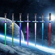 Retractable Light Sound Cross Lightsaber Toys Luminous LaserSword Light Up Led