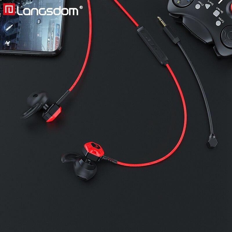 Langsdom Z100X casque écouteur de jeu avec micro stéréo PUGB casque Gamer auriculares fone de ouvido pour téléphone Xbox Gamer PS4