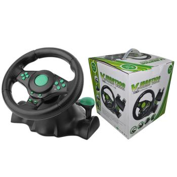 For XBOX-360/for PS3/P2/PC Game Racing Steering Wheel USB Plug And Play With Pedal Computer Vibration 180 Degree Zero Dead Angle