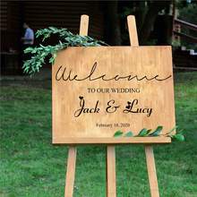 Wedding decoration DIY Vinyl decals welcome to our wedding personalized bride and groom name date customization H11