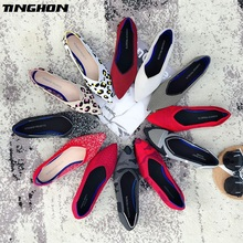 цена на TINGHON 31Colors Fashion Women Slip On Flat Loafers Pointed Toe Shallow Ballet Flats Shoes Casual Flat Shoes Ballerina Flats