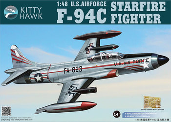 KittyHawk KH80101 1:48 Scale US Air Force F-94C Starfire Fighter Military Plane Aircraft Toy Plastic Assembly Building Model Kit