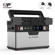 ALLPOWERS 110V 220V Power Bank Portable Power Station Lithium Portable Generator 372Wh Emergency Backup Power UPS Power