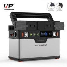 Allpowers 110 v 220 v power bank portátil power station de lítio gerador portátil 372wh emergência backup power ups power