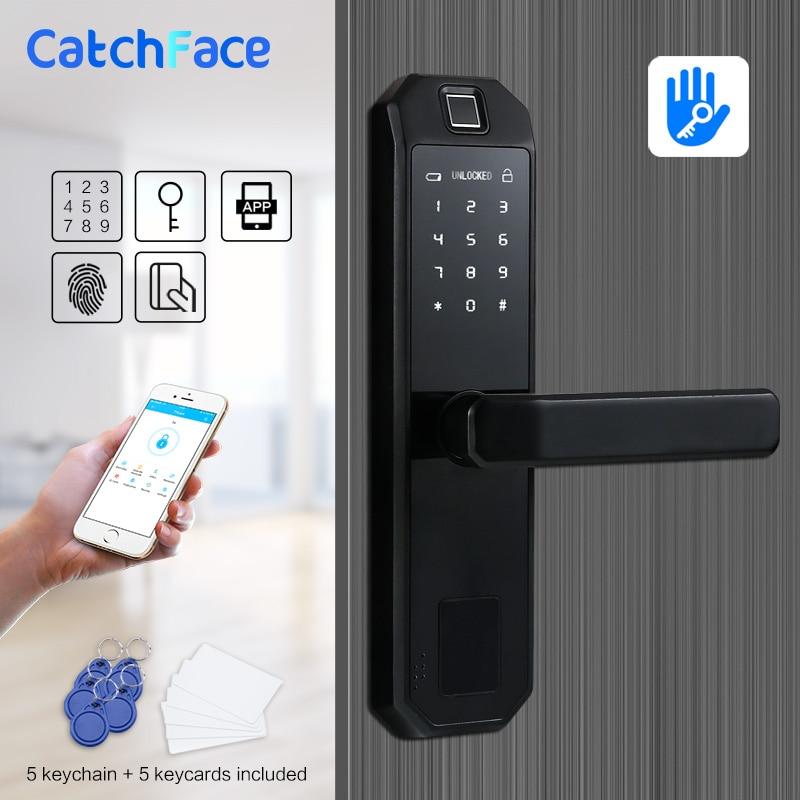 TTlock APP Fingerprint Door Lock Smart WIFI Card Digital Code Electronic Door Lock Home Security Mortise Lock