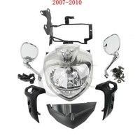 Farol da motocicleta conjunto de luz principal para yamaha fz6 fz6n 2004 2006 2004 2011 2007 2010|  -