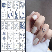 Waterproof Temporary Tattoo Sticker of body Love tattoo small size tatto stickers Cartoon tatoo fake tattoos Finger tattoo girl