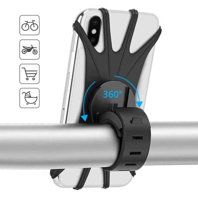 Uniwersalny rowerowy uchwyt na telefon komórkowy silikonowy motocykl motor kierownica uchwyt z podstawką uchwyt na telefon dla iPhone