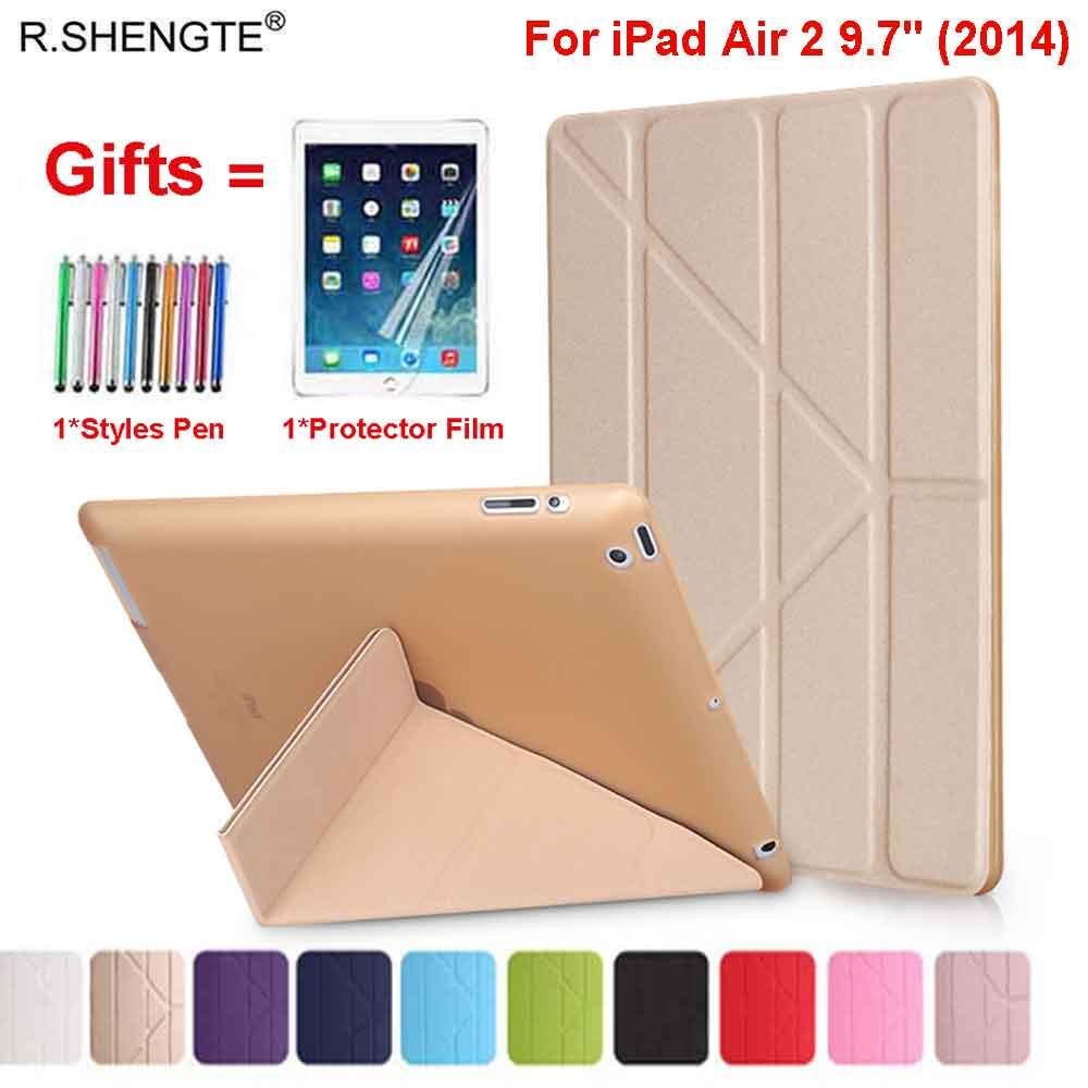 For iPad Air 2 Case iPad 9.7 A1566 A1567 Cases PU Leather Silicone Soft Folio Stand Smart Cove for iPad Air 2 Air2 9.7'' Tablet image