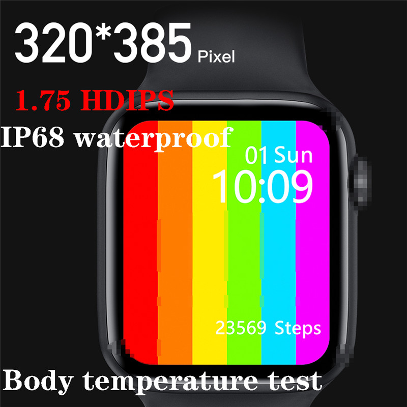 New <font><b>Smartwatch</b></font> <font><b>IWO</b></font> W26 <font><b>44mm</b></font> Watch 6 Smart Watch Thermometer ECG Heart Rate Monitor Temperature IP68 Waterproof PK <font><b>IWO</b></font> <font><b>8</b></font> IWO13 12 image