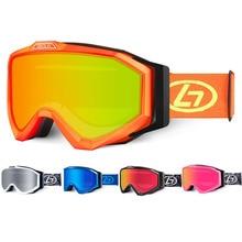 Лыжные очки 100% UV400 защиты Anti-туман Сноуборд мужчины женщины катание на лыжах очки Очки