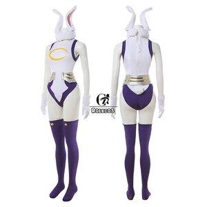 Image 4 - Rolecos Mijn Hero Academia Cosplay Kostuum Konijn Hero Miruko Sexy Jumpsuit Boku Geen Hero Academia Bunny Girl Cosplay Rompertjes Pak