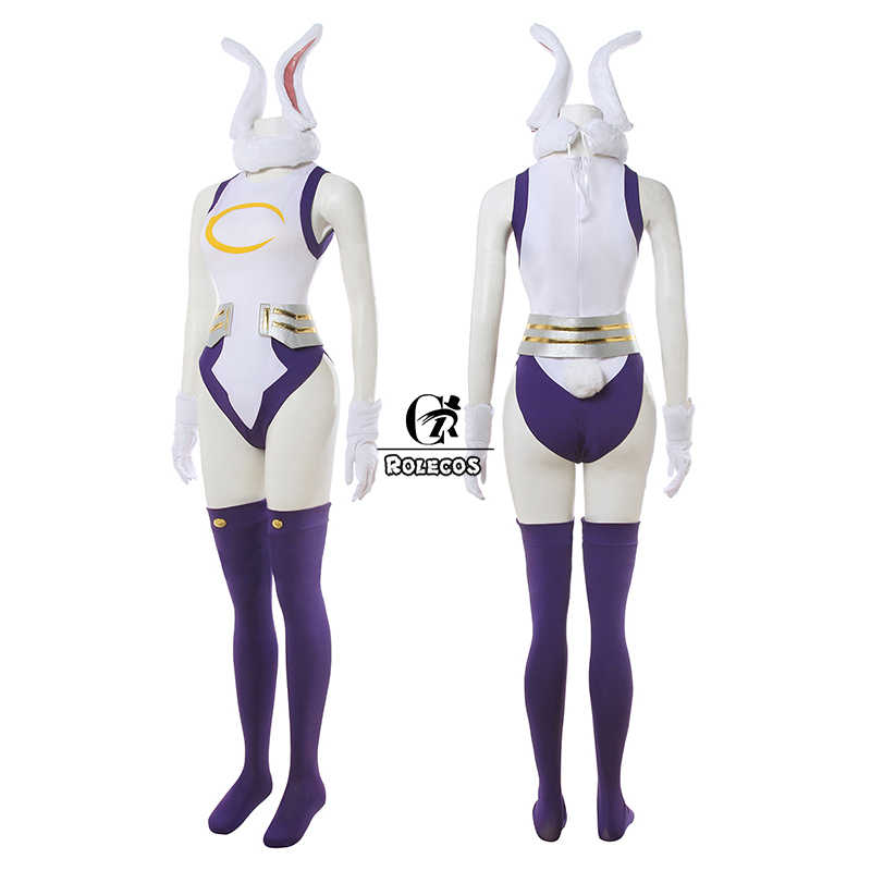 Rolecos Mijn Hero Academia Cosplay Kostuum Konijn Hero Miruko Sexy Jumpsuit Boku Geen Hero Academia Bunny Girl Cosplay Rompertjes Pak