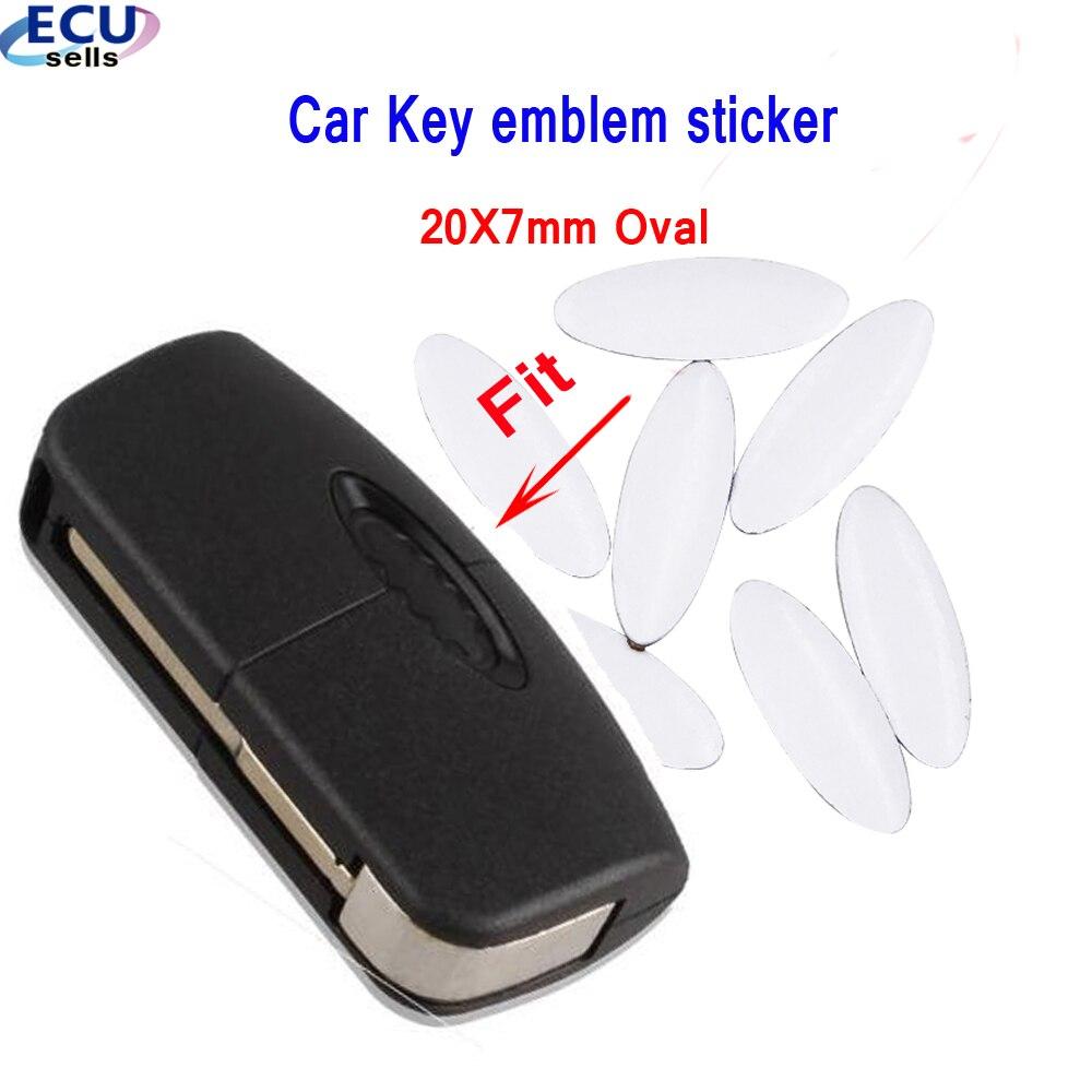 2 шт./5 шт./10 шт., 20*8 мм брелок для автомобильных ключей, бейдж с дистанционным управлением, логотип-наклейка для Ford Focus Mendeo, эмблема для ключа, а...