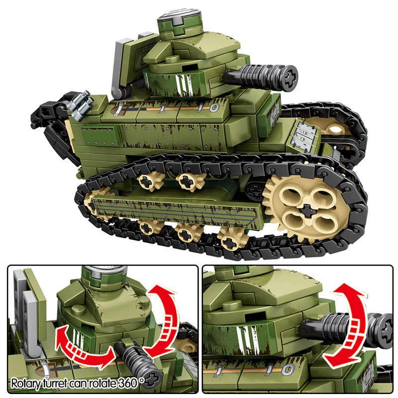 SEMBO 596PCS WW2 Stadt Polizei Krankenwagen Modell Bausteine Military Tank Krieg Waffe Soldat Figuren Ziegel Spielzeug Für Jungen