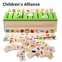 baby cadeau femme jouet sensoriel apprentissage jeux montessori jouet bois Montessori début des Puzzles éducatifs jouets pour enfants Intelligence apprentissage Puzzle en bois créature dessin animé 3D Puzzle