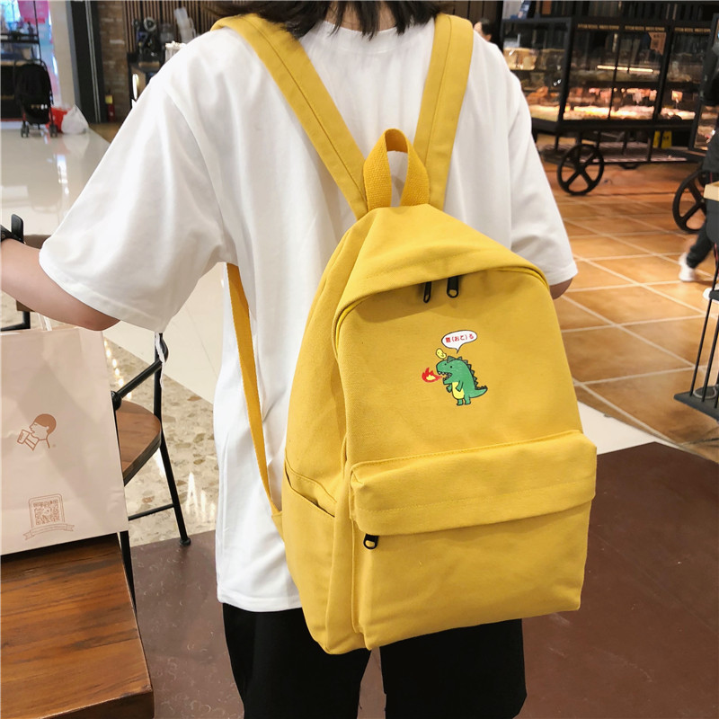 Backpack Women Canvas Backpack 2019 Brand New Female Casual Students School Bags For Teenage Girls Cartoon Shoulder Bags