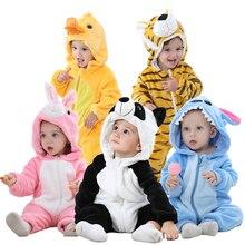 Зимний Детский комбинезон с изображением панды Одежда для новорожденных для маленьких мальчиков и девочек детский комбинезон, Одежда для новорожденных, комбинезон, одежда для малышей комплекты для малышей Пижама со строчной нашивкой;