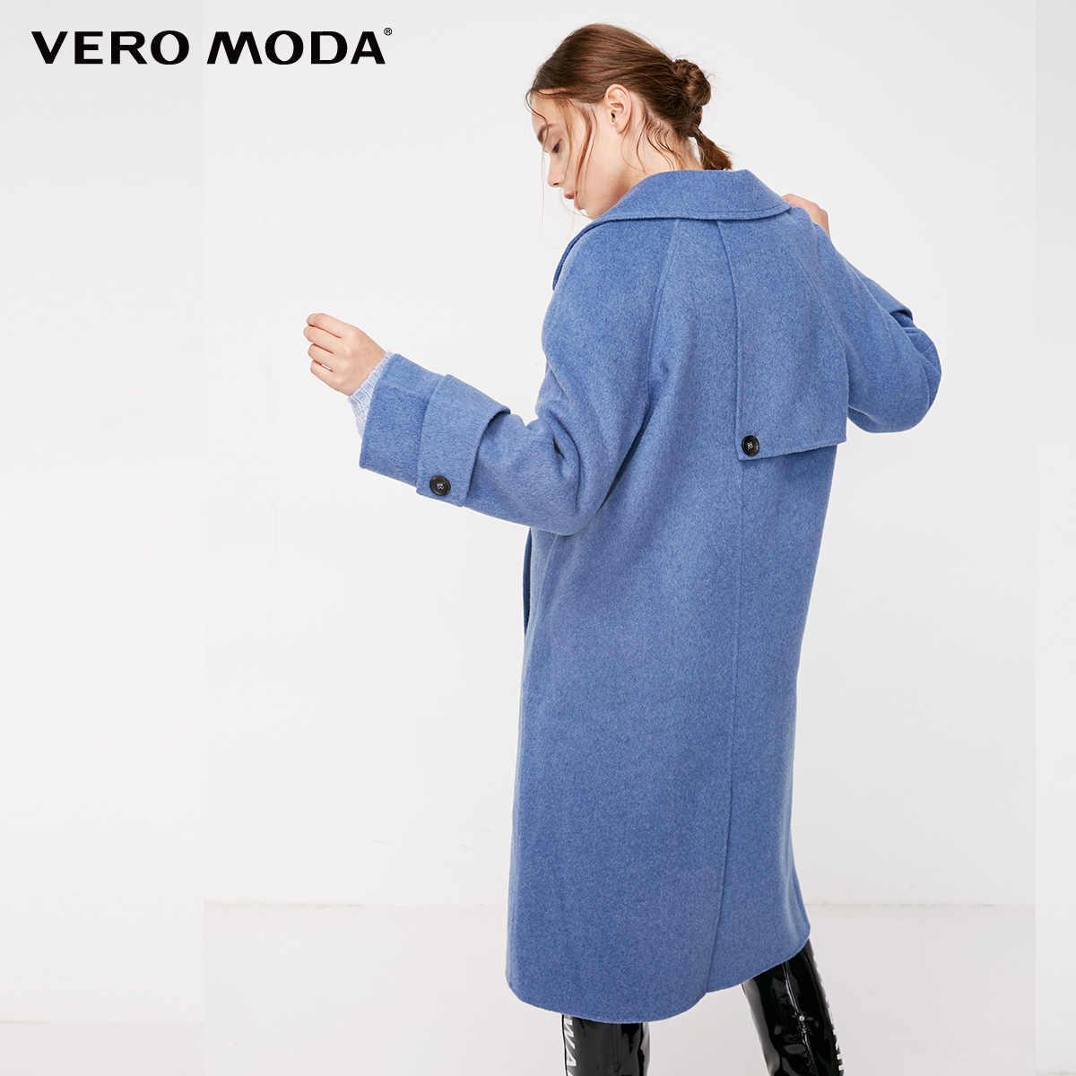 Vero Moda Women's Lapel Pure Long Woolen Coat | 318327566