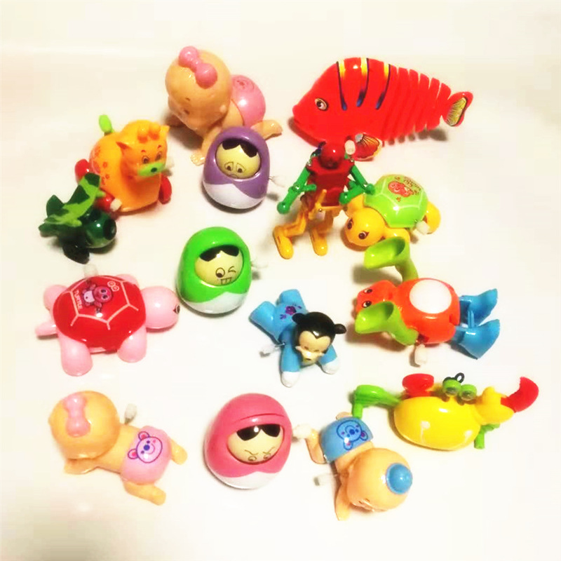 Wind-up Toy Multi-Winding Torsion Butt Crawling Doll Somersault Plastic Toy Chickens Bunny Small Animal Mixed Hair