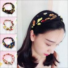 цена на Women new hair bands  wild cute headdress fruit stretches to print headband girls hair accessories