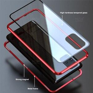 Image 2 - Funda magnética de Metal para Samsung Galaxy S20 Ultra Plus, protector de vidrio de doble cara, 360