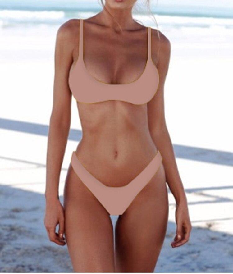 Hb5ccb1f36be24362b179102f81d61db0Z New Solid Sexy Bikini Set Women Swimming Suit Fashion Swimsuit Two-Piece Swimwear Bathing Suit Female Biquini Plus Size XL Sets