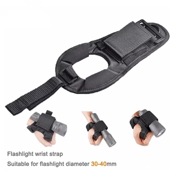 2020 New Underwater Scuba Diving Dive LED Torch Flashlight Holder Soft Black Neoprene Hand Arm Mount Wrist Strap Glove drop ship 9