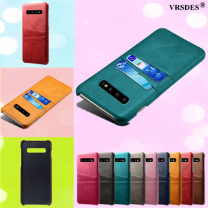Card Slots Cover PU Leather+PC Case For Samsung Galaxy S10 S9 S8 Plus Note 9 8 A9 A7 A8 A6 Plus 2018 J7 J5 J3 A7 A5 A3 2016 2017(China)