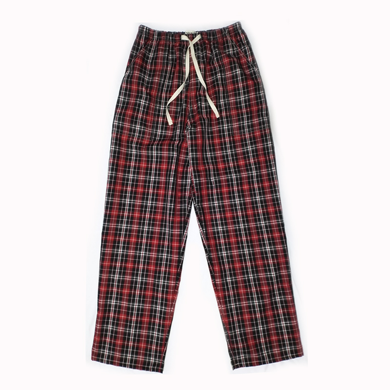 Cheap Cotton Plaid Spring Summer Men's Sleep Bottoms Pajamas Bottoms Sleepwear Pants Pajamas For Sleeping Man Pyjamas Home Wear