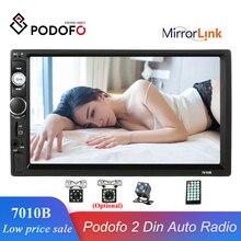 """Podofo Auto Zubehör 2 Din 7 """"autoradio MP5 Player 7010b Spiegel Link Touch Screen Stereo BluetoothUSB Unterstützung Rückansicht kamera"""