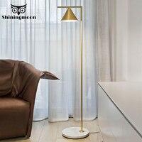 Moderno lâmpada de assoalho metal ouro cônico chifre acrílico abajur lâmpadas iluminação sala estar quarto decoração interior lâmpada pé Luminárias de pé     -