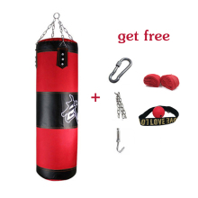 60cm-150cm  Punching bag Training Fitness MMA Boxing Bag Sport Kick Boxing Sandbag Muay Thai Boxer Training Set Empty стоимость