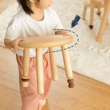гостиная стулья Small Round Stool Nordic Kid Furniture Full Solid Wood Children's Hard Maple Backless Chair Shoe Changer Stools