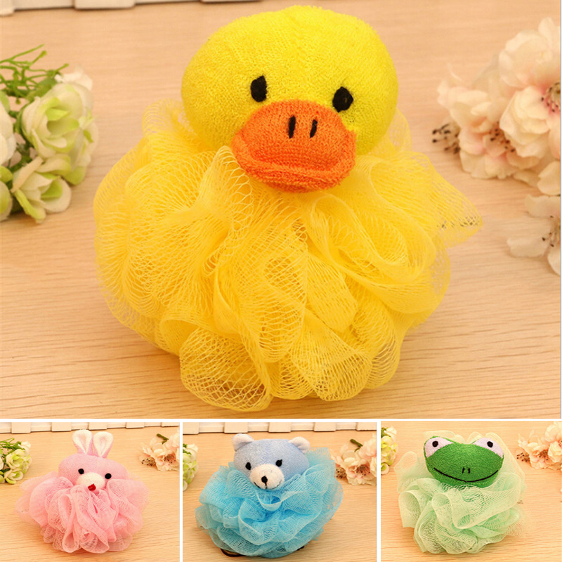 Cartoon Bath Flower Bath Ball Milk Shower Accessories Bathroom Supplies Loofah Mesh Sponge Super Soft Baby Bath Brush