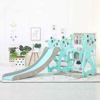 Baby Indoor Slides And Swing Combination with Basketball Frame Music Machine Kids Playground Plastic Slide Set Toy CYM1089-01 all things cedar af90u s 5ft swing with a frame set