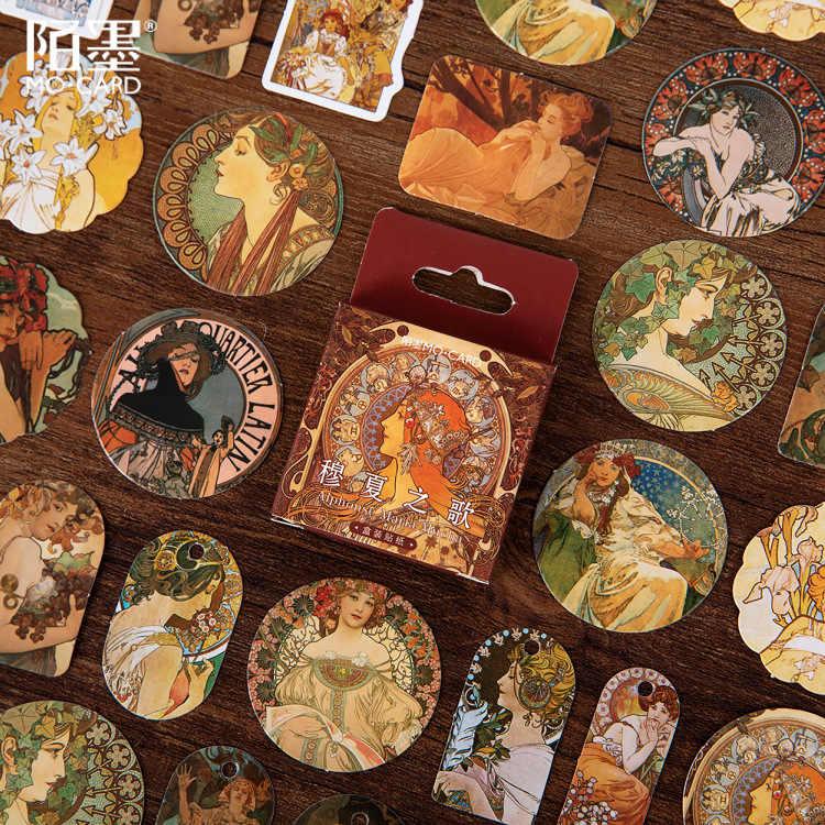 46 unidades/pacote mucha pintura adesivo de papel decoração adesivos diy ablum diário scrapbooking etiqueta