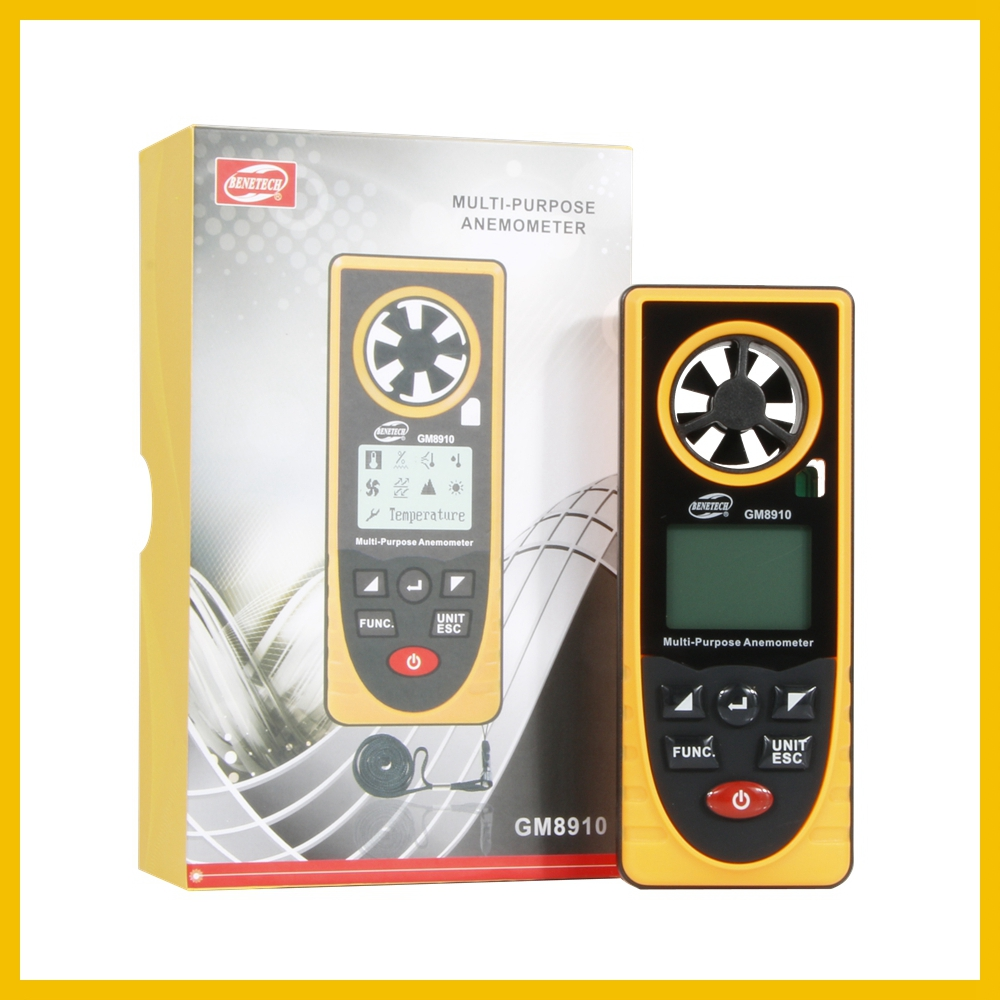 Portable RZ GM816 Wind Speed Meter Used as Anemometer with LCD Display Useful for Windsurfing 38